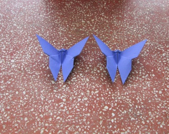 100 Paper Origami Butterfly-Violet Color (I 10), 4  x 4 inches (10 x 10 cm) only for  8.00 USD