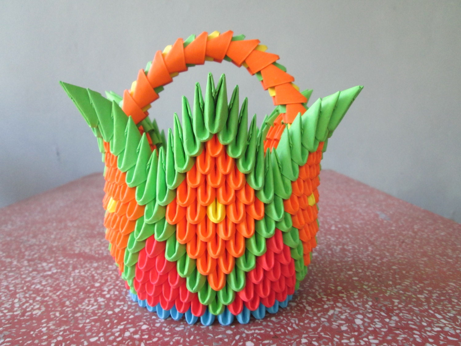 3d Origami Basket Only For 900 Usd Etsy