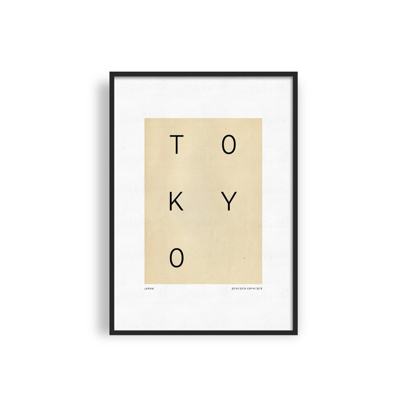 TOKYO Printable Poster Minimalist City Poster Modern Travel image 0