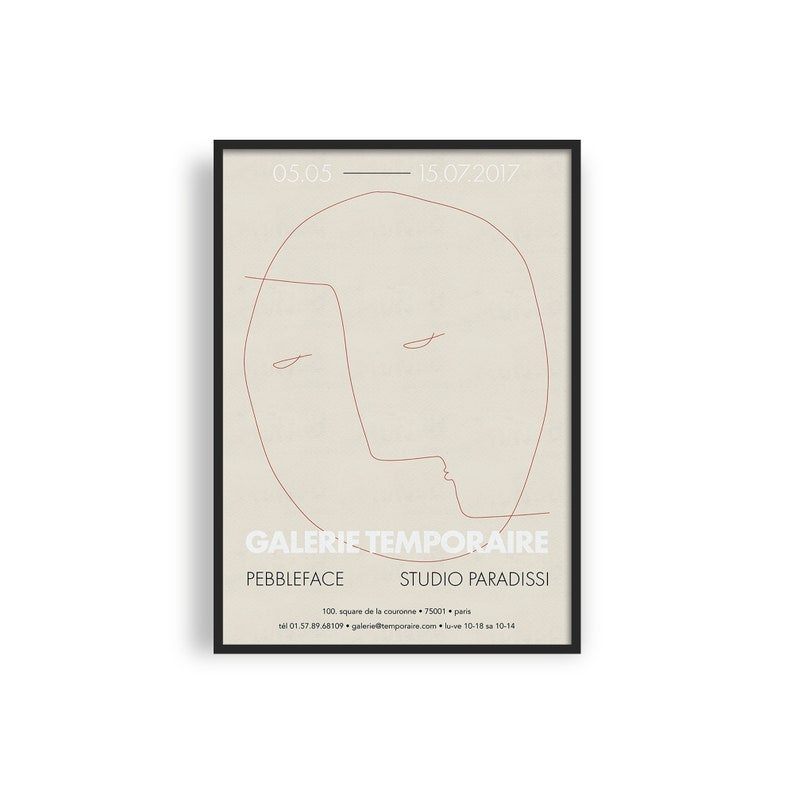 Contemporary Exhibition Poster Giclee Art Print Abstract Face image 0