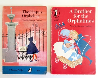 Vintage Children's Book, The Happy Orpheline, A Brother for the Orphelines, Young Puffin, Child's Story Books, Gift for Child, Girl's Book