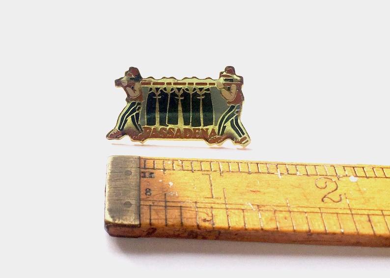 Vintage Enamel Pin Pasadena Denim
