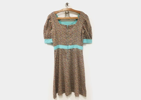 1970s Handmade Prairie Dress Ditsy Floral Mini - image 5