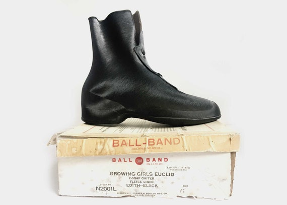 1940s Ball-Band Gaiters Rubber Boots 6