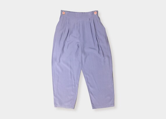 Lilac High Waisted Tapered Pants