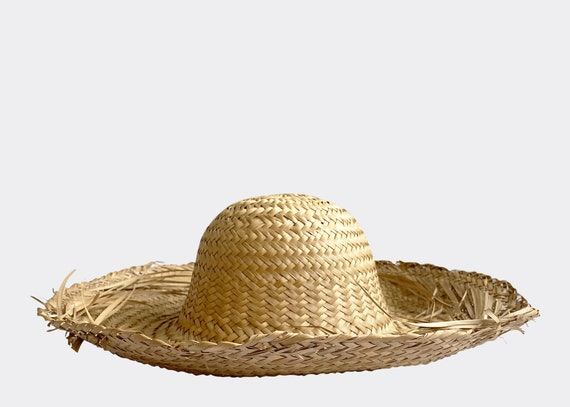 Straw Frayed Dome Sun Hat