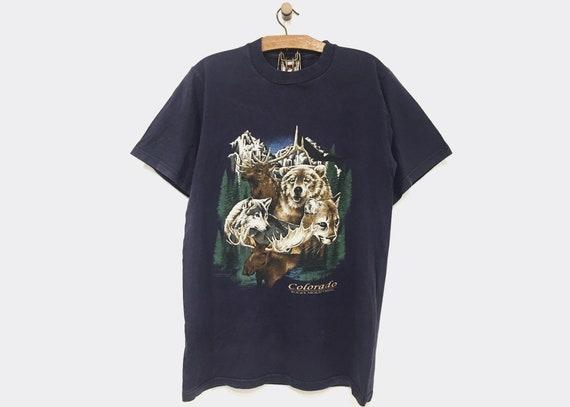 Vintage Souvenir T-shirt Colorado Rocky Mountains