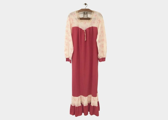 1970s Pink Night Maxi Gown
