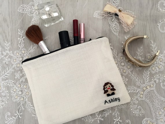 Mothers Day Personalized Makeup Bag Bridesmaid Gift Idea