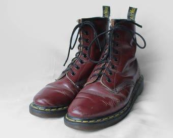 Dr Martens Vintage Burgundy Leather Doc Martens Boots  37.5EU / 6.5US / 4.5UK for Women