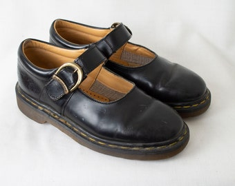 d3b2eb3397061 US6 Dr Martens Vintage Black Leather Mary Janes Made in England Doc Martens  Shoes EU37   US6   UK4 for Women