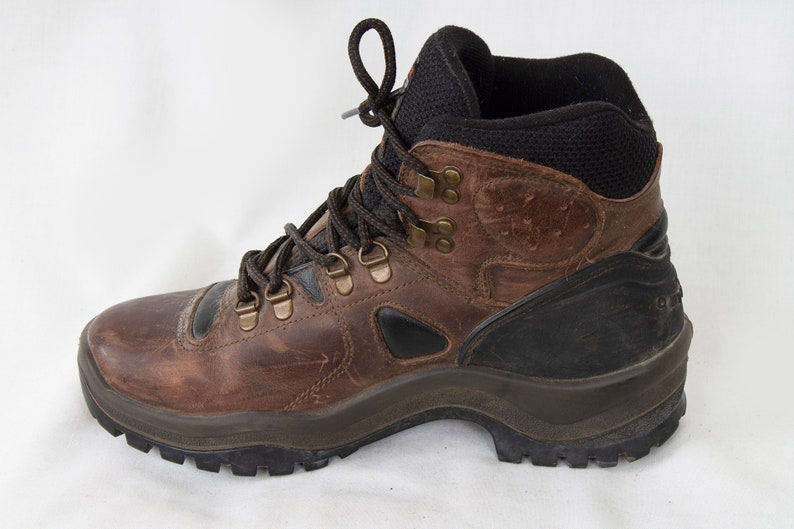 US8 Tan Vintage Brown Outdoor Mountaineering Hiking Boots Climbing Trekking Boots Wild Trail Womens or Mens UK6  EU39  US8