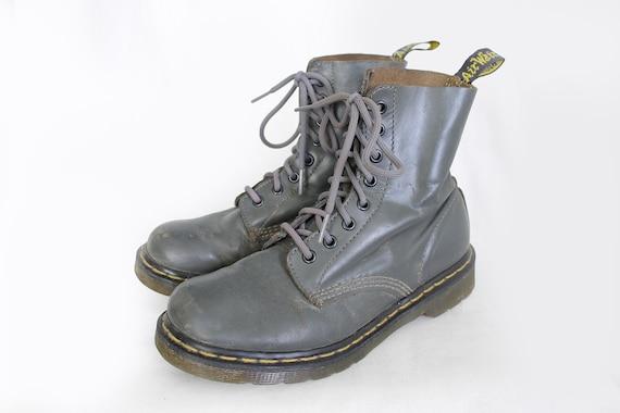 les femmes Doc Vintage US8 US8 Martens UK6 pour bottes EU39 gris Dr cuir Martens hrdQts