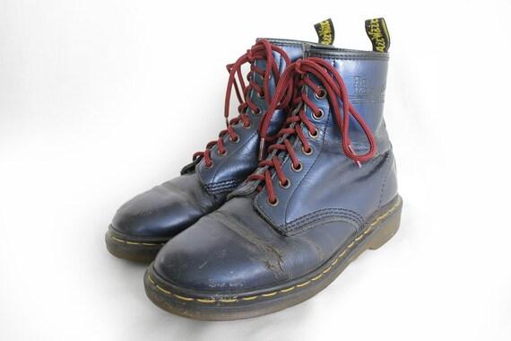 2ea5d5f121b19 US7 Dr Martens Vintage en cuir bleu brillant 1460 1460 1460 Doc ...