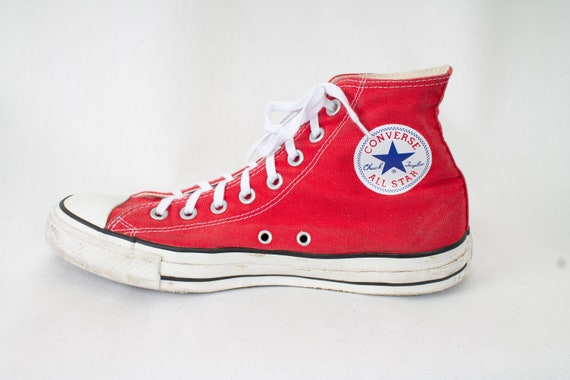 95e9d5cd973a5 US9.5 Vintage Red Chuck Taylor All Stars Tennis Converse Sneakers for Women  / UK7.5 / EU40.5 / US9.5