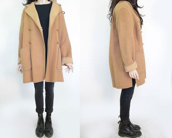 1990s Vintage Light Camel Beige Coat for Women