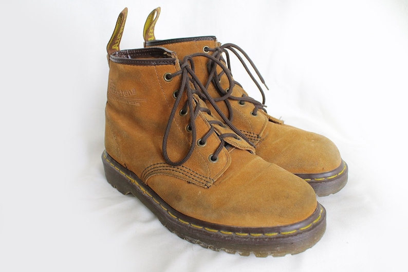 121ed7a696634 US9 Vintage Dr Martens Camel Brown Made in England Doc Martens