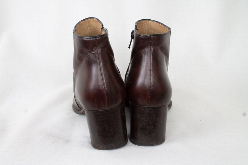 4e61b848f57c6 US8 Vintage Brown Mimo Venezia Leather Festival Hippie Elegant Ankle Boots  90s for Women size EU39 / UK6 / US8