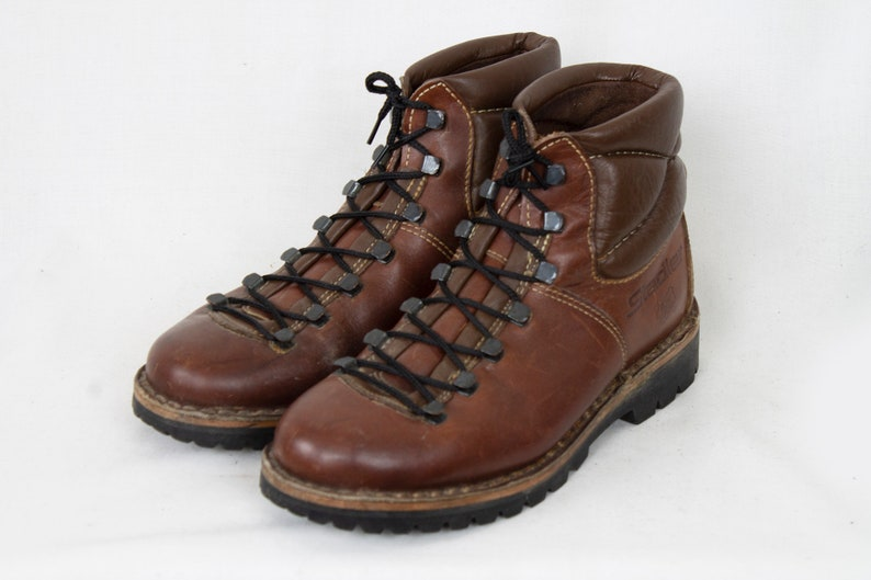 US6.5 Vintage Stadler Rugged Leather Brown Wild Life Hiking Boots Trail Boots Womens size EU37  US6.5  UK4.5