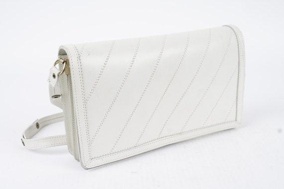Vintage White Leather Bag Shoulder Bag and Crossbo