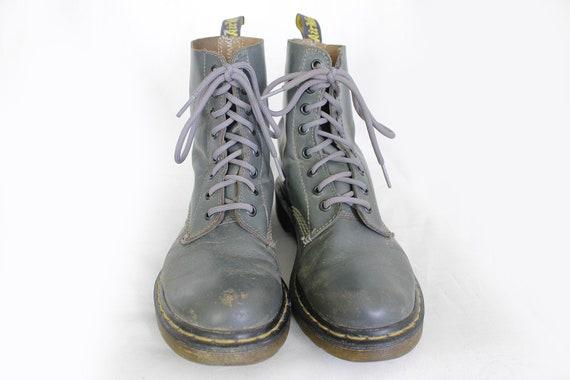 bottes pour Vintage Dr les gris EU39 US8 Doc femmes Martens Martens cuir UK6 US8 zMLSUpGqV