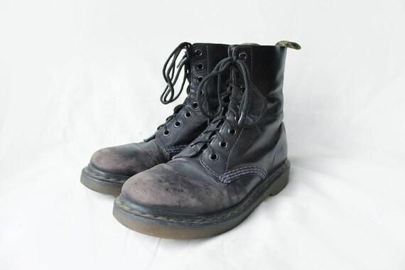... US6 Dr Martens Vintage Black Faded cuir Doc Martens UK4 bottes EU37    US6   UK4 ... 2591f2b1b05f