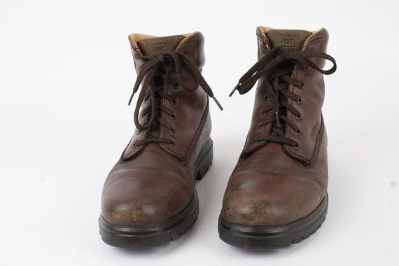 US11 CAT Vintage Brown Leather Mens Shoes Caterpil