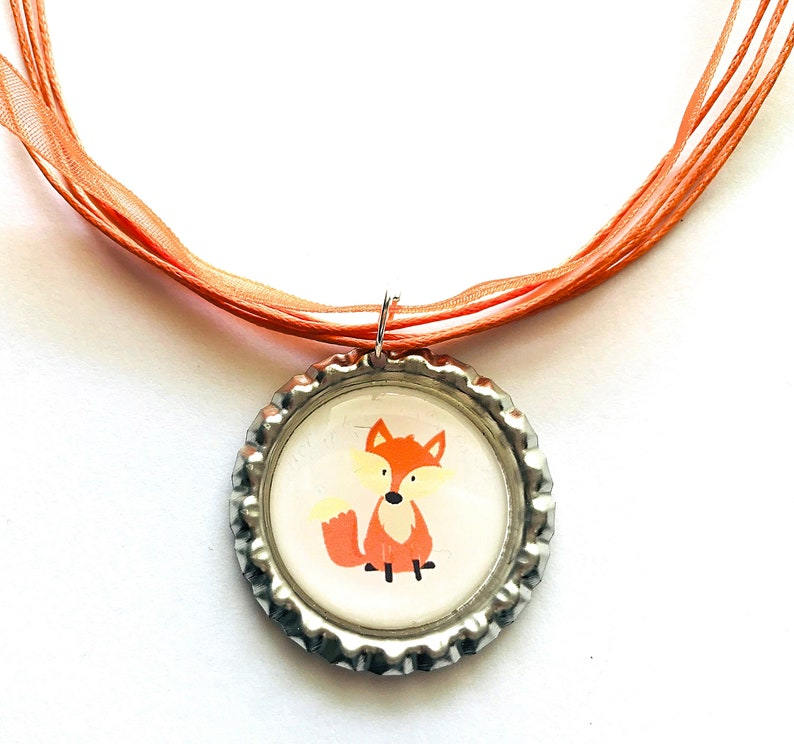Fox Pendant Children Necklace Forest Animal Fox Jewelry Gift for Kids Fox Charm Necklace for Girls Fox Necklace Fox Gift