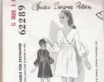 Spadea Designer Pattern 62289 Womens Mini Dress Size 14 Bust 34 UNCUT