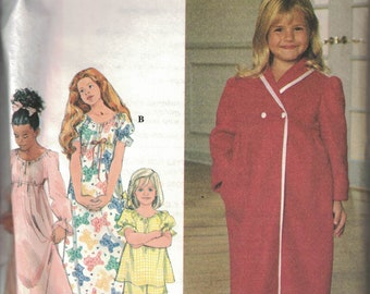 557db13c218e New Look 6931 Pattern for Girl s and Boys  Pajamas