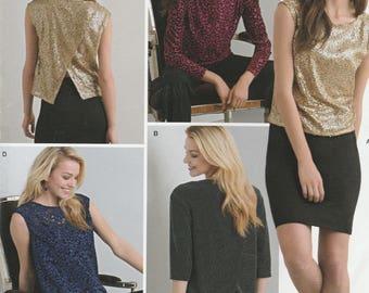 Butterick -... Butterick Damas fácil patrón de costura vestidos de cuello en v suéter 6317