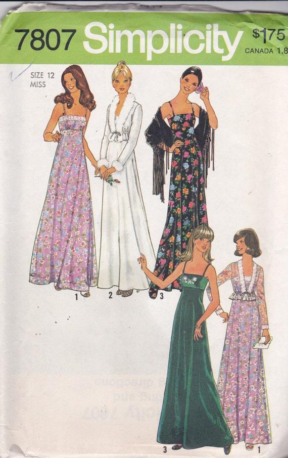 Simplicidad 4686 patrón Vintage para mujer Formal Vestido de | Etsy