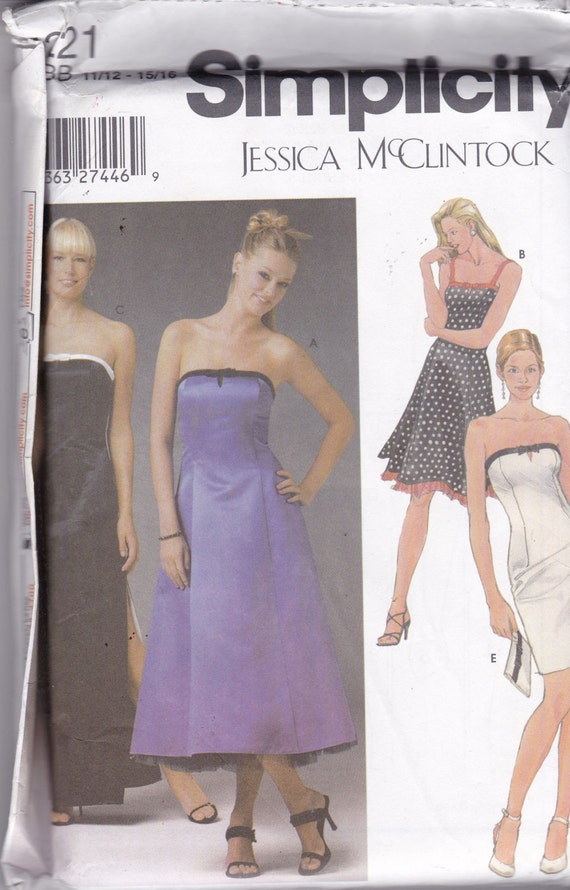 Simplicity 5221 Designer Pattern Juniors Prom Dress Evening | Etsy