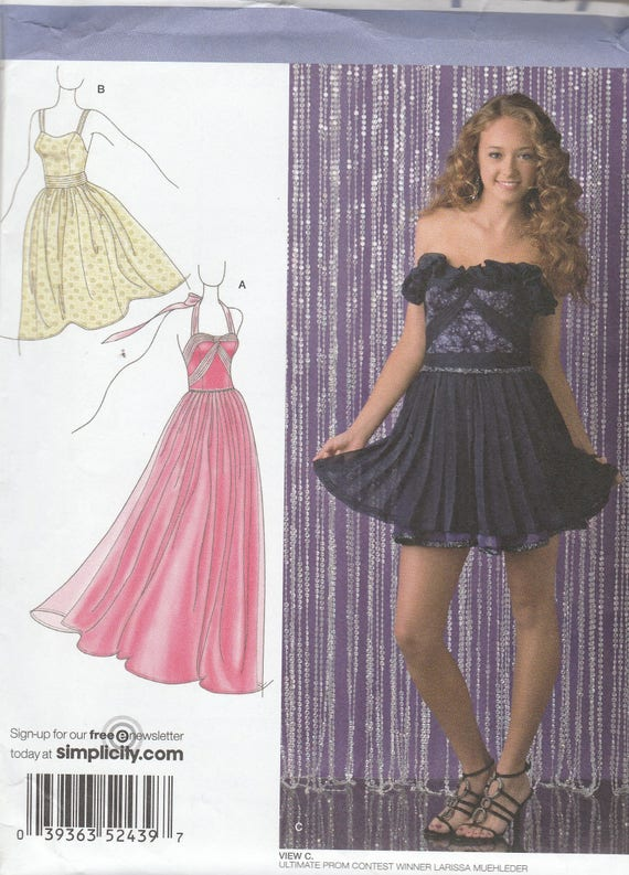 Simplicity 2439 Womens Prom Dress Evening Gown Or Bridesmaid Etsy