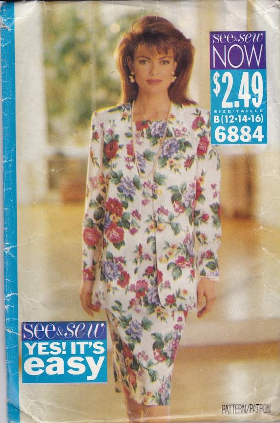 Sehen & Nähen 6884 CLEARANCE Damen Vintage Muster versehen | Etsy
