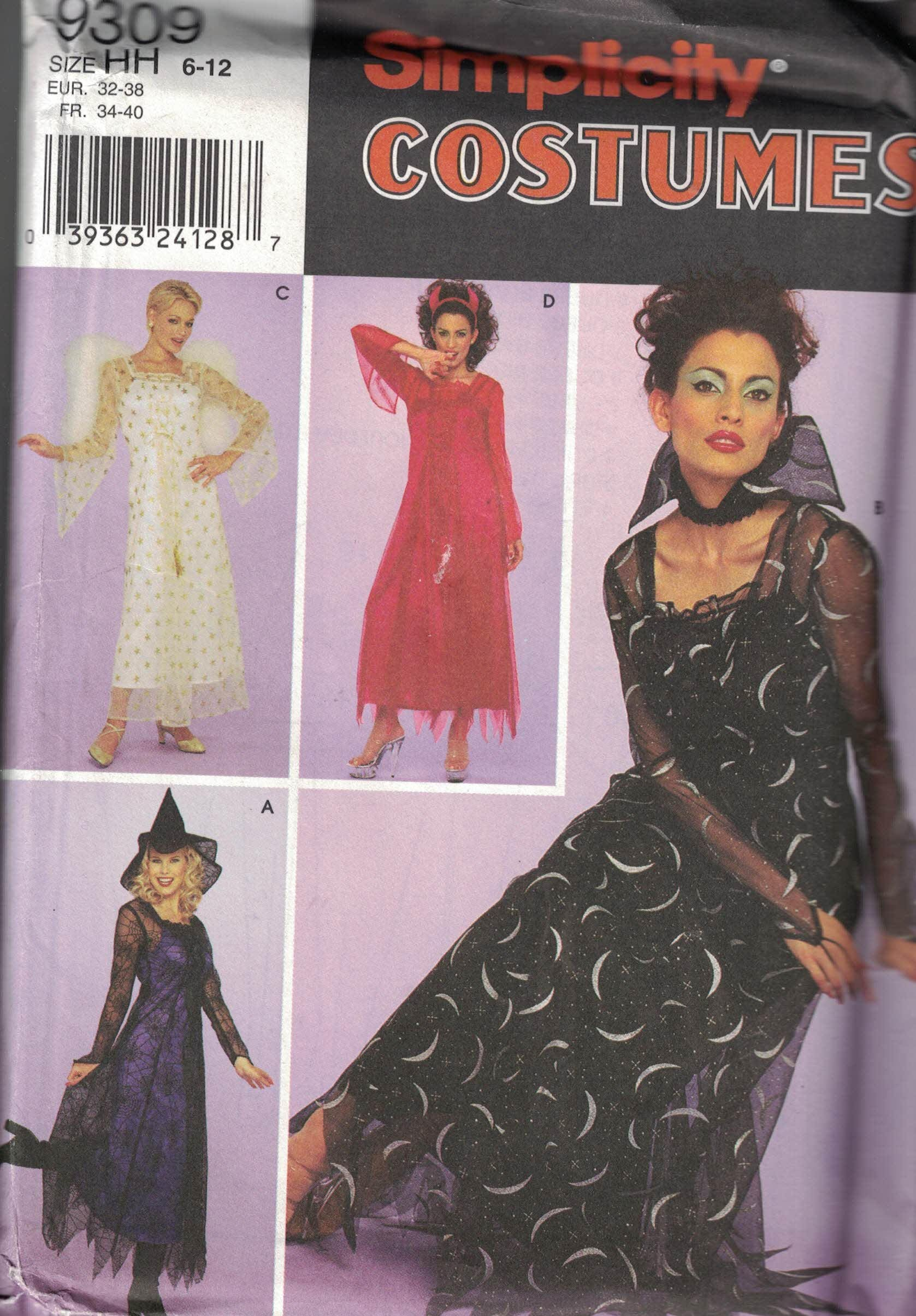 Witch Costume Pattern Interesting Decoration