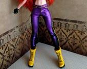 Super Girl Hero Doll - Skinny Jeans, Black w Purple Foil