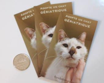 """Magnet """"Adopt a geriatric cat"""""""