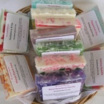 SALE SOAP CLEARANCE Variety Grab Bag 2 pounds Mystery Box of Glycerin Soap Samples  Destash Clearance The Scented Retreat