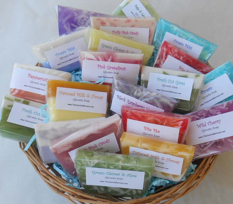 50 Soap Samples Variety Soap Mystery Grab Bag Soap Favors image 0