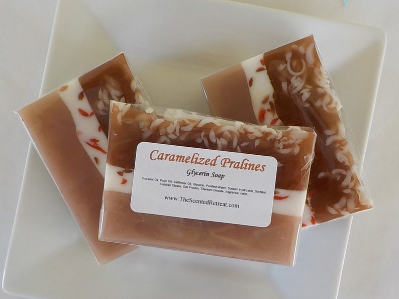 Caramelized Pralines Soap  Fall Bakery Soap image 0
