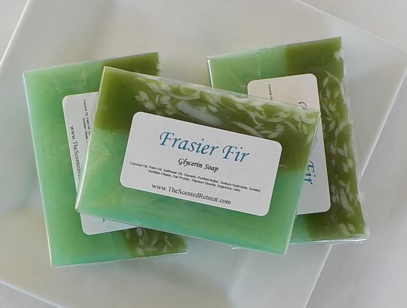 Frasier Fir Soap Winter Pine Green Christmas Soap image 0