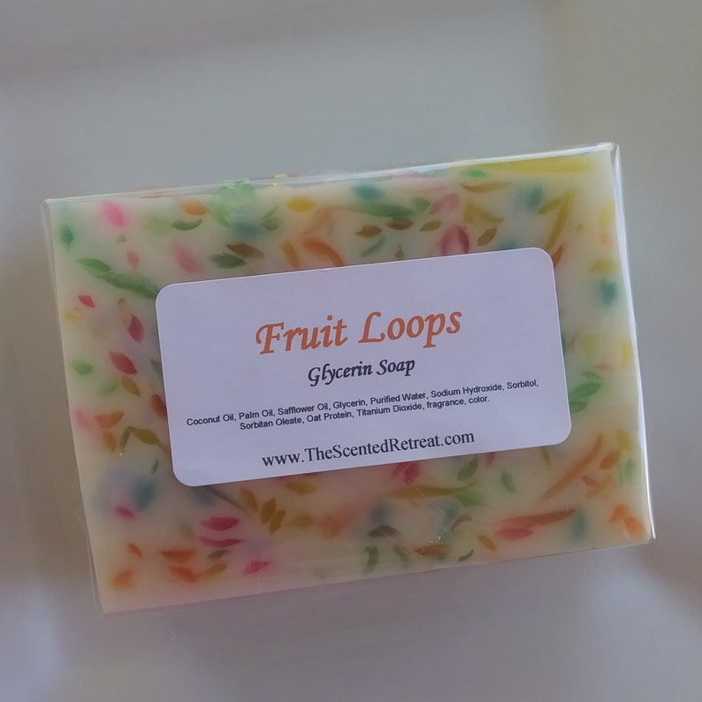 Fruit Loops Soap Confetti Cereal Type Soap image 0