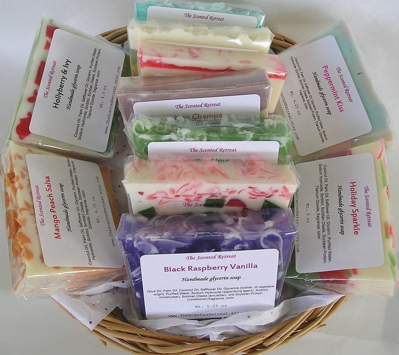6 Soap Bars Glycerin Soap Your Choice of Scents image 0