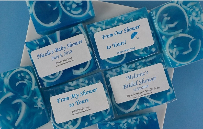 Blue Soap Shower Favors Baby Shower Soap Favors From My Shower image 0