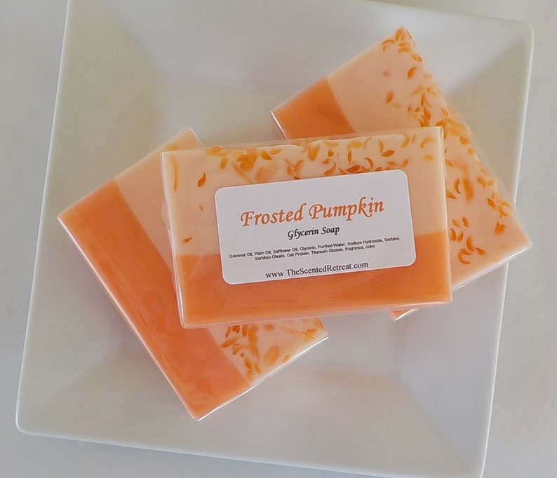 Frosted Pumpkin Soap  Fall Thanksgiving Holiday Hostess Gift image 0
