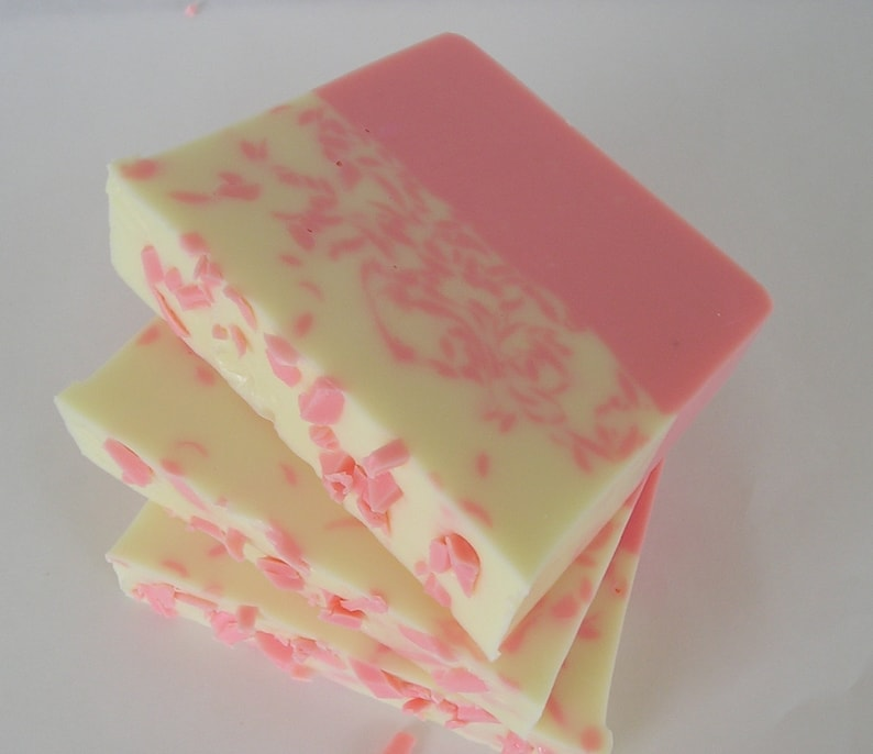 Strawberries & Cream Soap Pink Soap image 0