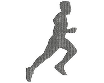 Run Machine Embroidery Design, 2 sizes, run embroidery design, runner embroidery, marathon embroider, 5K, 10K, running embroidery, man run