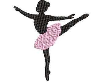 Ballet Machine Embroidery Design- ballerina embroidery design, 4x4 hoop, Dance Bag Embroidery