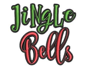 Jingle Bells Christmas Machine Embroidery Design, Christmas embroidery design, Jingle Bells embroidery design, Merry Christmas embroidery